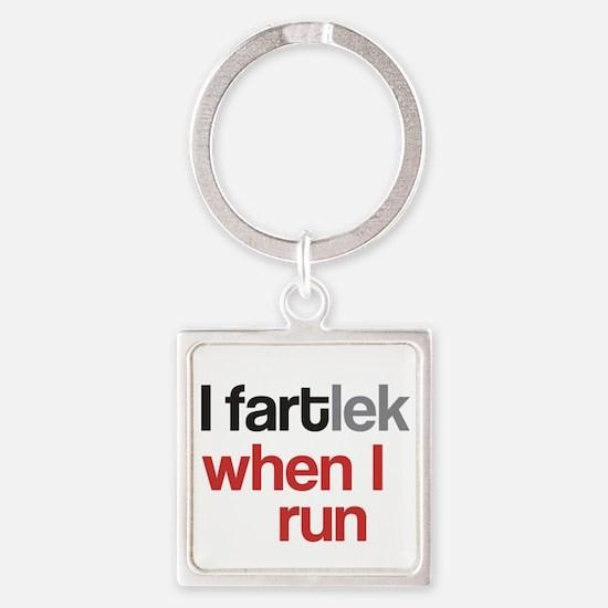 Funny I FARTlek © Square Keychain