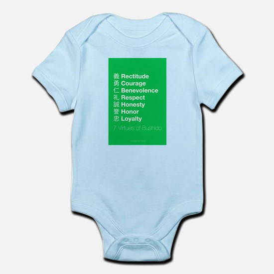 The 7 Virtues of Bushido Infant Bodysuit