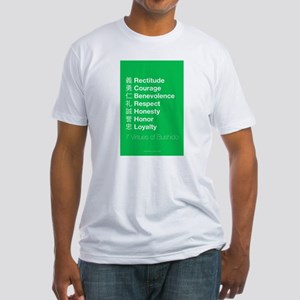 The 7 Virtues of Bushido Fitted T-Shirt
