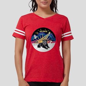 Black SharPei Puppy Womens Football Shirt