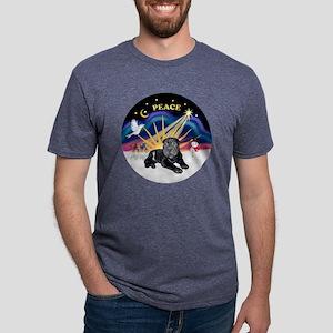 Black SharPei Puppy Mens Tri-blend T-Shirt