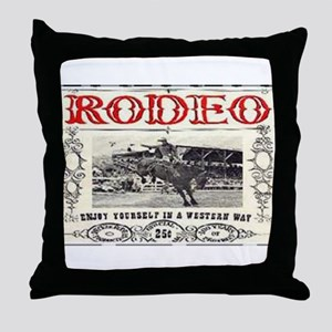 Vintage Rodeo Throw Pillow