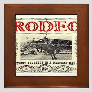 Vintage Rodeo Framed Tile