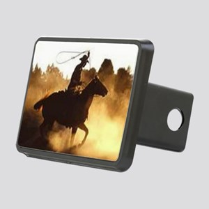 Roping Cowboy Rectangular Hitch Cover