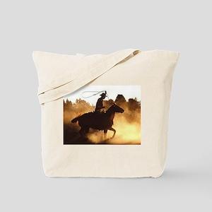 Roping Cowboy Tote Bag