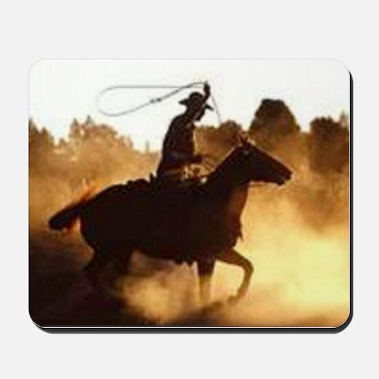 Roping Cowboy Mousepad