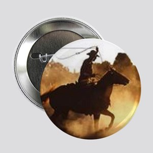 "Roping Cowboy 2.25"" Button"