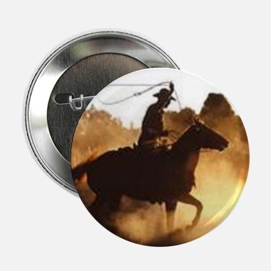 """Roping Cowboy 2.25"""" Button"""