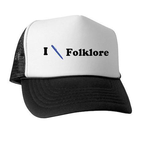 I Write Folklore Trucker Hat