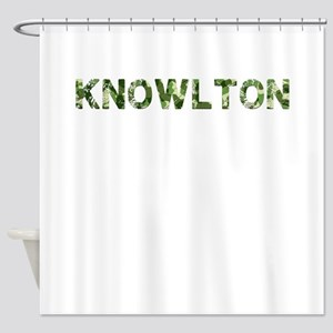 Knowlton, Vintage Camo, Shower Curtain