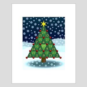 Advent Sum Christmas Tree Small Poster