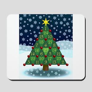 Advent Sum Christmas Tree Mousepad