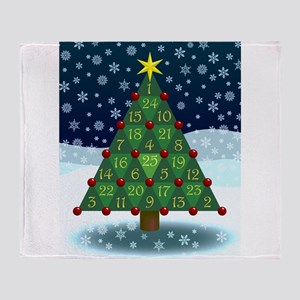 Advent Sum Christmas Tree Throw Blanket