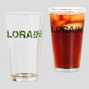 Lorain, Vintage Camo, Drinking Glass