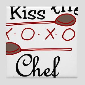 Kiss The Chef Tile Coaster