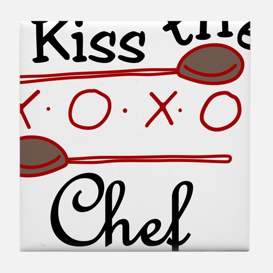 Kiss The Chef Tile Coaster