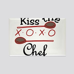 Kiss The Chef Rectangle Magnet