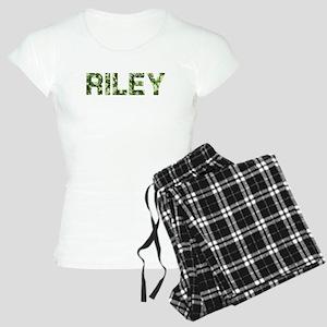 Riley, Vintage Camo, Women's Light Pajamas