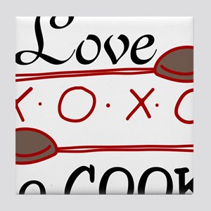 Love To Cook Tile Coaster