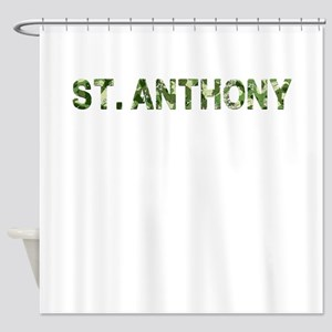 St. Anthony, Vintage Camo, Shower Curtain