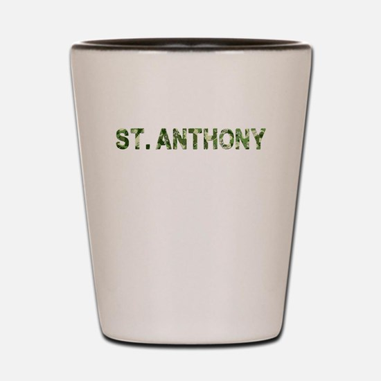 St. Anthony, Vintage Camo, Shot Glass