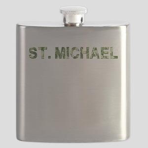 St. Michael, Vintage Camo, Flask