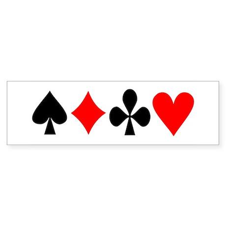 Card Logos Bumper Sticker