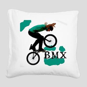 BMX ink blot Square Canvas Pillow