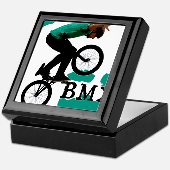 BMX ink blot Keepsake Box