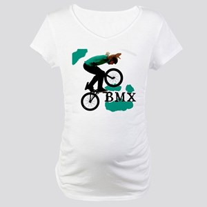 BMX ink blot Maternity T-Shirt