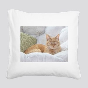 Simba Smiling Square Canvas Pillow