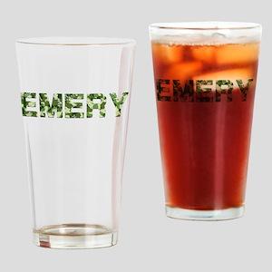 Emery, Vintage Camo, Drinking Glass