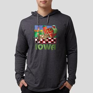 Iowa Farm Mens Hooded Shirt
