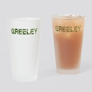 Greeley, Vintage Camo, Drinking Glass