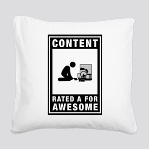 Hamster Lover Square Canvas Pillow