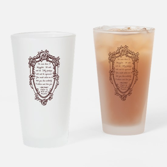 Mr Darcys Proposal Drinking Glass