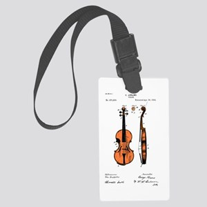 Fiddle / Violin Patent Large Luggage Tag