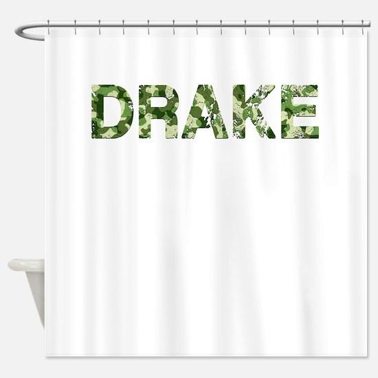Drake, Vintage Camo, Shower Curtain