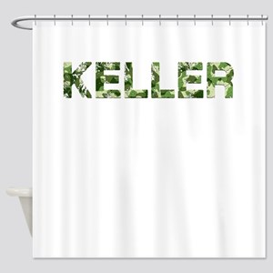 Keller, Vintage Camo, Shower Curtain