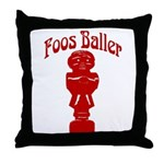Foos Baller Throw Pillow