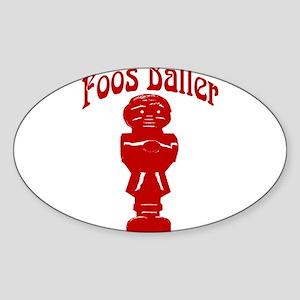 Foos Baller Oval Sticker
