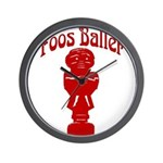Foos Baller Wall Clock