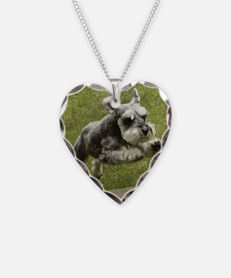 Dog Necklace Heart Charm