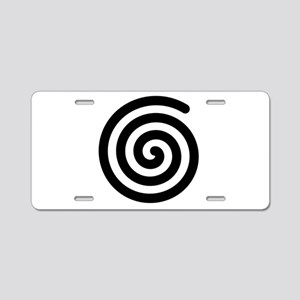 Spiral Aluminum License Plate