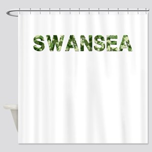 Swansea, Vintage Camo, Shower Curtain