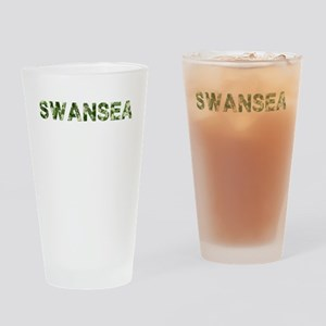Swansea, Vintage Camo, Drinking Glass