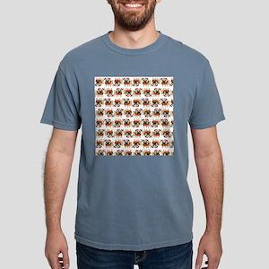 Christmas Pugs Mens Comfort Colors Shirt