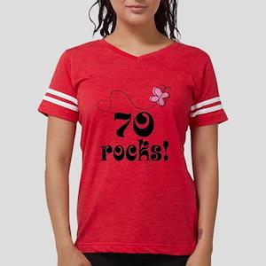 70 rocks pink butter Womens Football Shirt