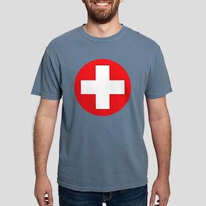 red cross Mens Comfort Colors Shirt