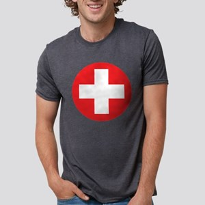 red cross Mens Tri-blend T-Shirt